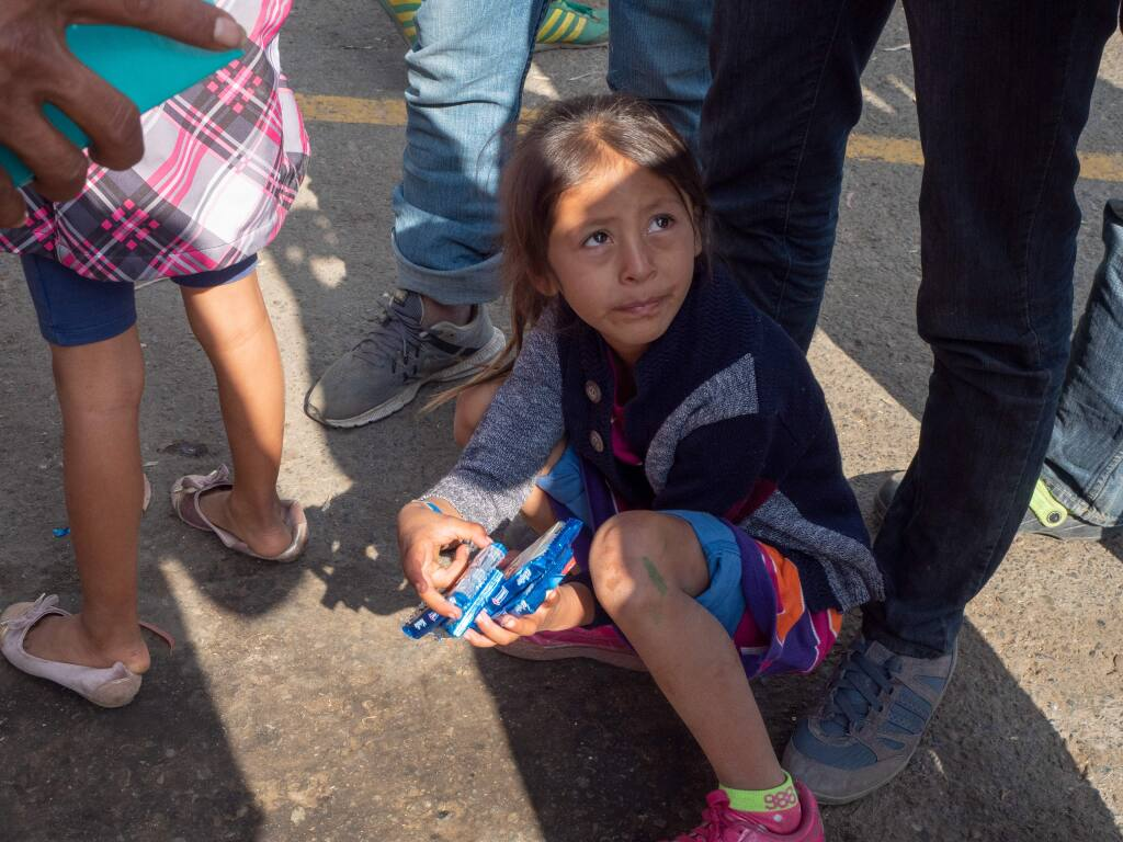 Central American migrants wait in limbo in Mexico near the U.S. border. (JOSHUA TORRES FOR THE ARGUS-COURIER)