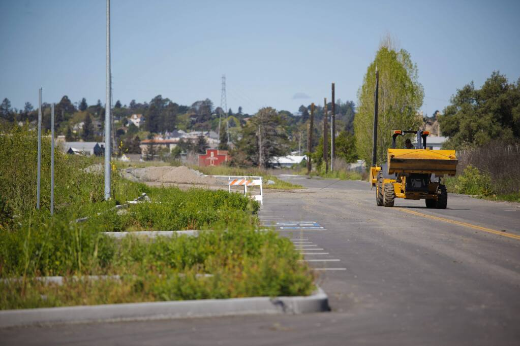 The Riverfront Homes in southwest Petaluma are on hold as it prepares to be sold to a new developer. (CRISSY PASCUAL/ARGUS-COURIER STAFF)