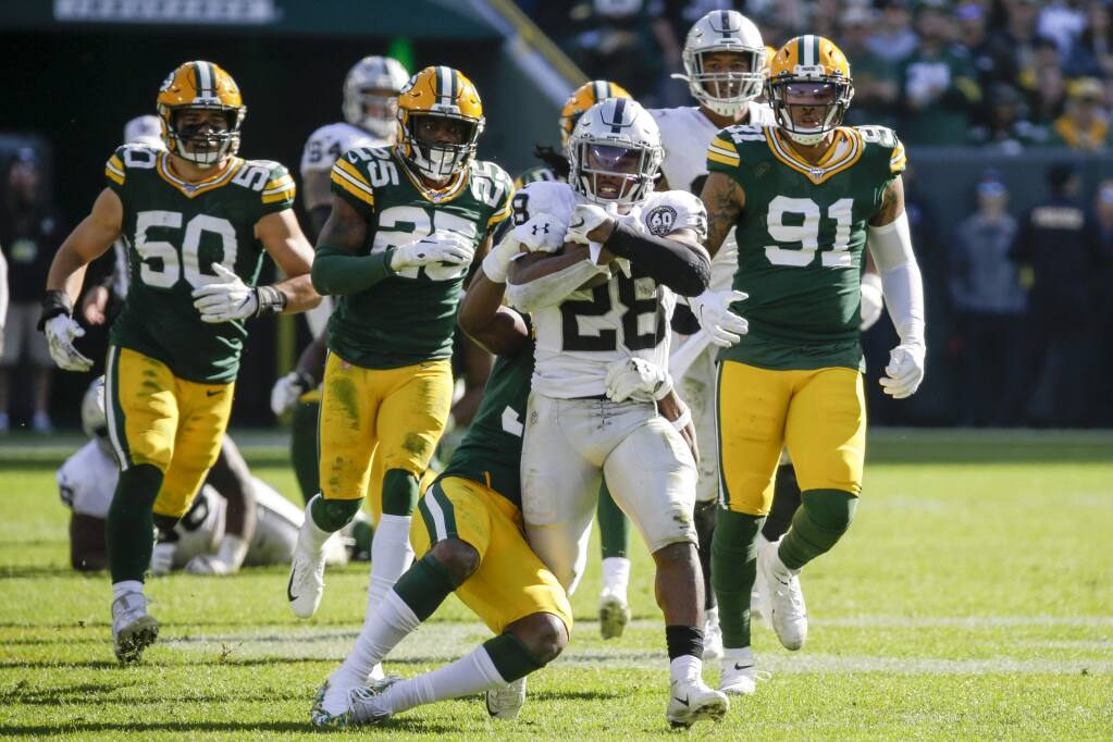 Rookie Running Back Josh Jacobs Carrying Heavy Load For Raiders
