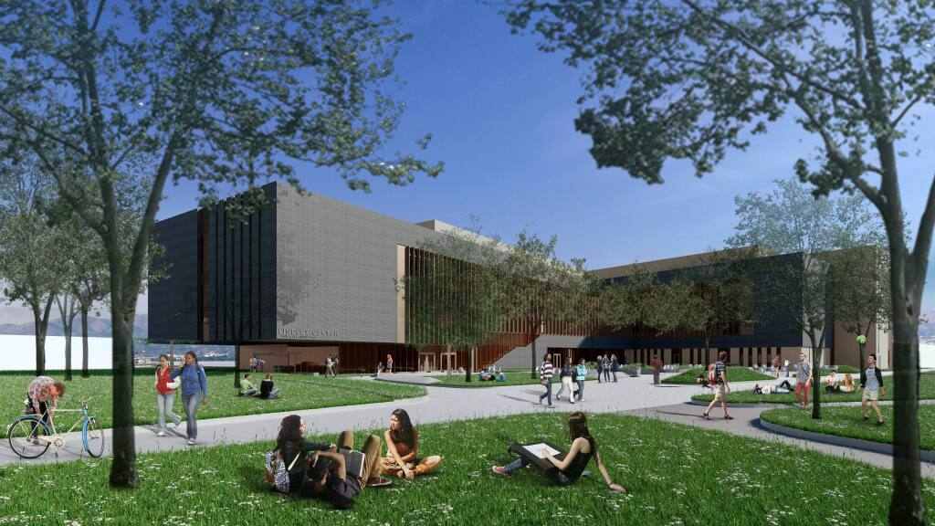 Rendering of the Lindley Center to be built on the Santa Rosa Junior College campus.