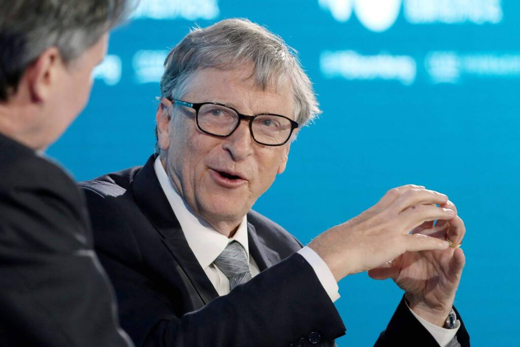 Bill Gates, co-chair of the Bill and Melinda Gates Foundation, during the Bloomberg New Economy Forum in Beijing on Nov. 21, 2019. (Bloomberg photo by Takaaki Iwabu)