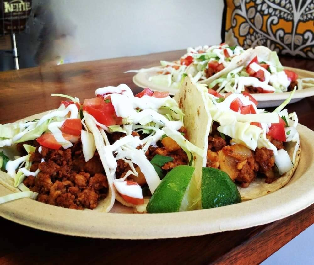 The flavor is perfectly balanced in the chorizo potato tacos. (Photo courtesy of Tara Carpenter)