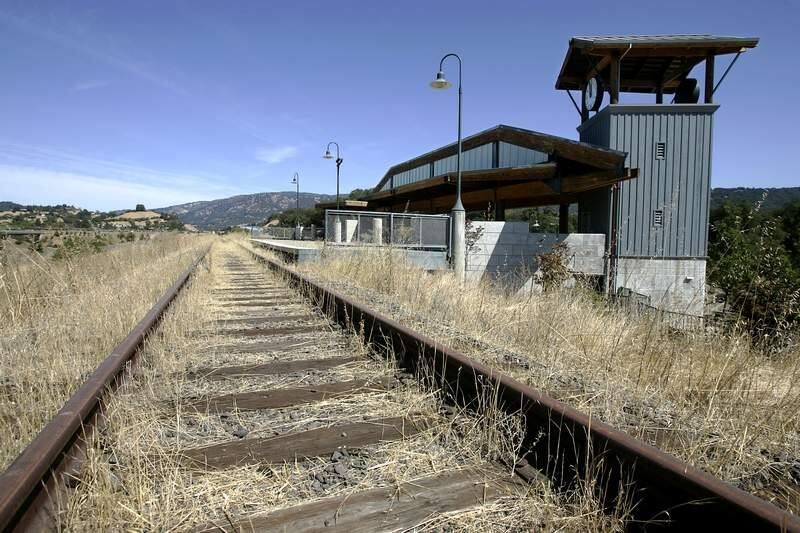 The Cloverdale Depot is slated to be the northern end of the SMART line. (Christopher Chung / The Press Democrat) 2006