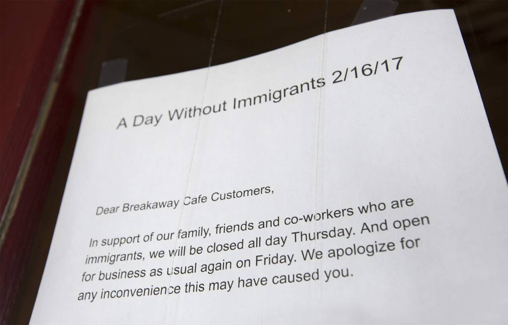 The Breakaway Cafe participated in 'A Day Without Immigrants' on Feb. 16. (Photo by Robbi Pengelly/Index-Tribune)