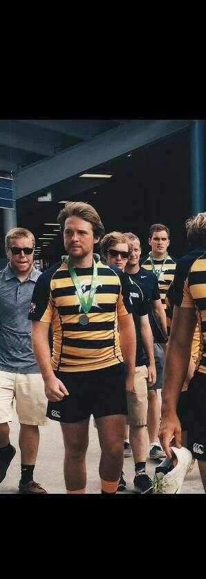 Andrew Giganti, center, was seriously injured in a crash in Santa Rosa on May 24. The former rugby player is expected to make a full recovery, but he has a long road ahead. (Giganti family)