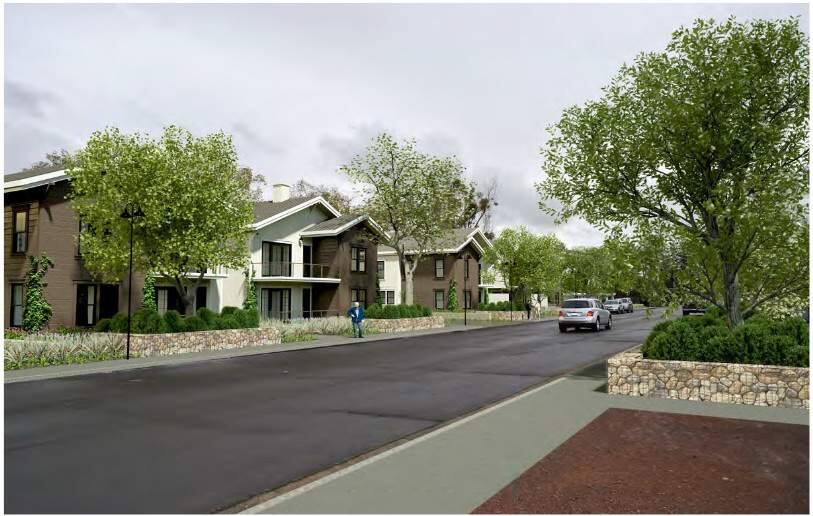 Architect's rendering of the residential portion of the First Street East project. (Caymus Capital)