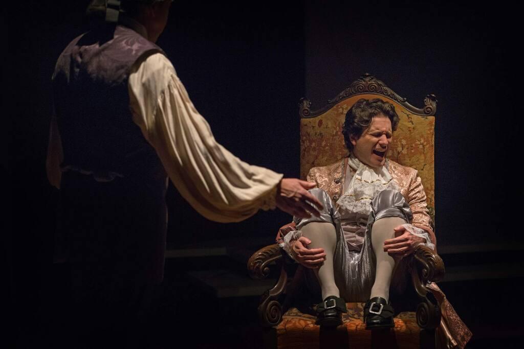 Richard Pallaziol (Salieri), Aaron Wilton (Mozart). Photo by Victoria Von Thal.