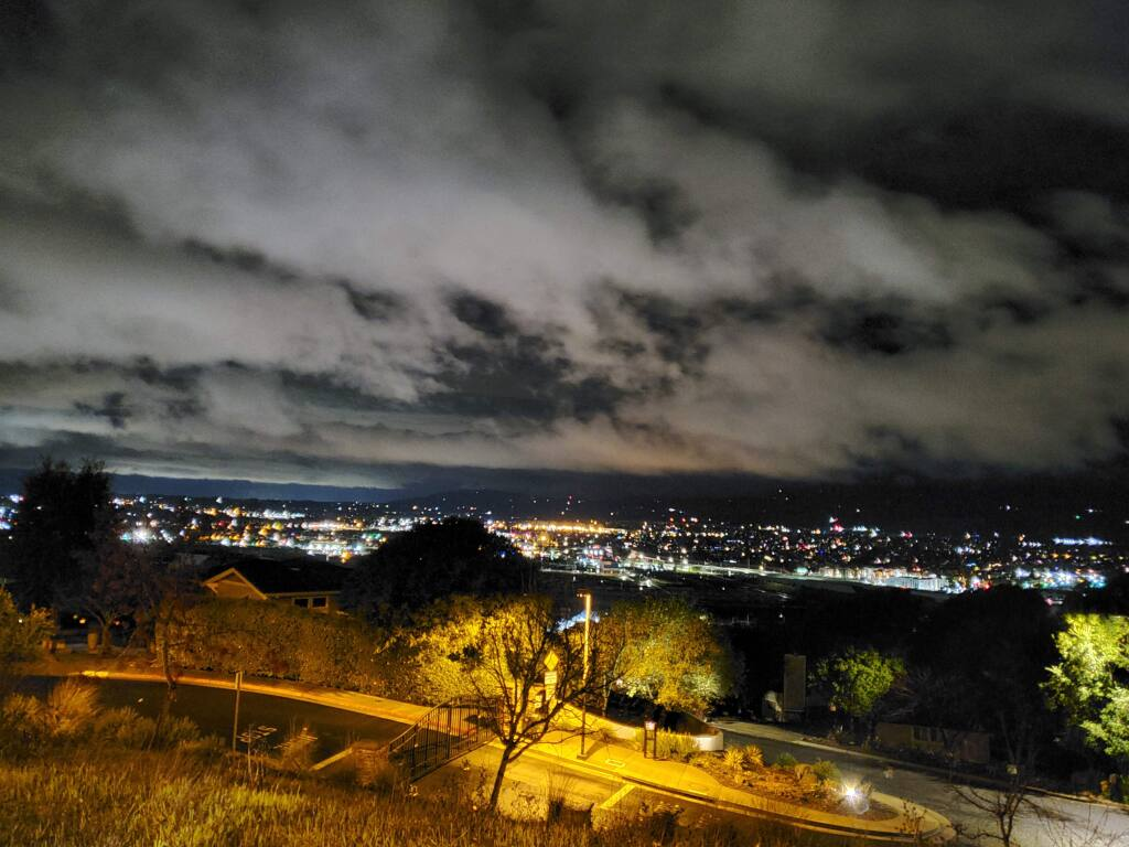 ìThis picture was taken soon after the thunder and lightning rolled through Petaluma on Christmas morning leaving behind a palpable energy in the air,î explains Natasha Custodio, a Petaluma resident since 2007. The photograph is taken on Augusta Circle, at 5:09 a.m.