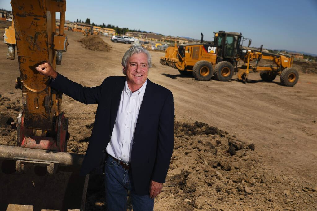 John Ryan, Jr., is the president of Brookfield Homes, which builds homes throughout Northern California. One of the company's projects is the large-scale University District subdivision in Rohnert Park, near the SSU Green Center.(Christopher Chung/ The Press Democrat)
