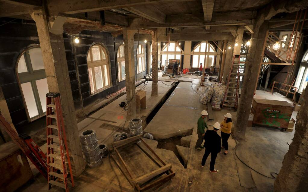 The interior of the Empire Building at Old Courthouse Square in Santa Rosa on Monday, Dec. 3, 2018. The building is being remodeled into a boutique hotel. (KENT PORTER/ PD)