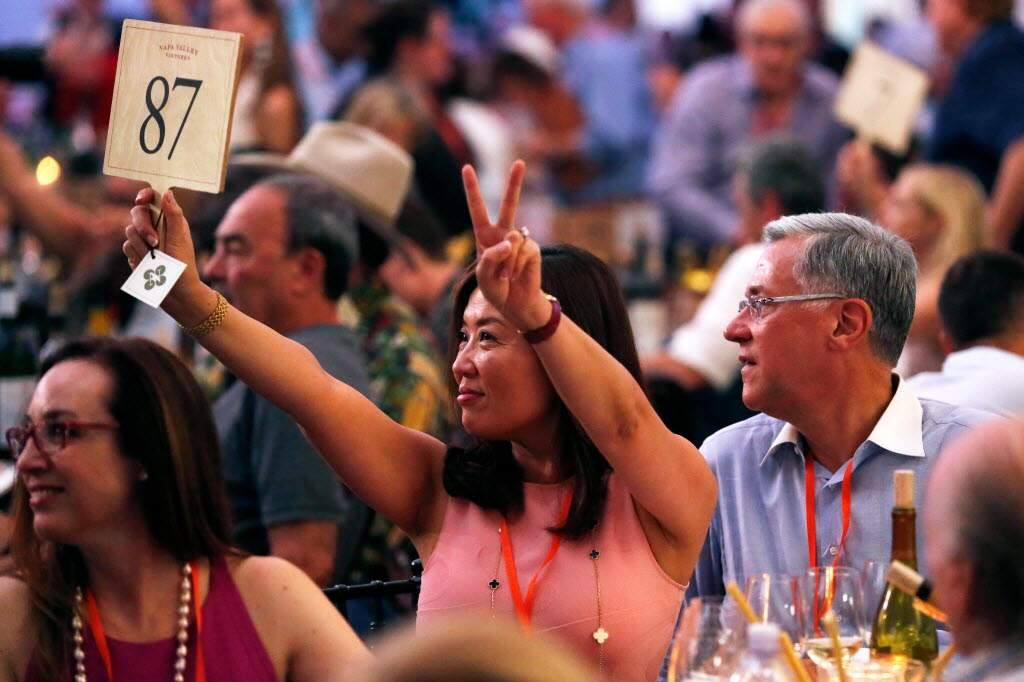 Auction Napa Valley at Meadowood Resort in St. Helena, California on Saturday, June 3, 2017. (Alvin Jornada / The Press Democrat)