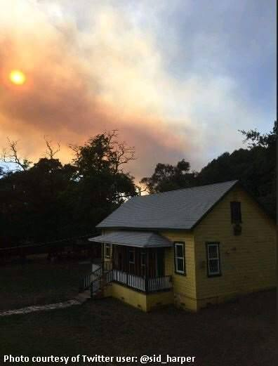 The Grade fire burns in Mendocino County on Sunday, July 16, 2017. (COURTESY OF CAL FIRE)