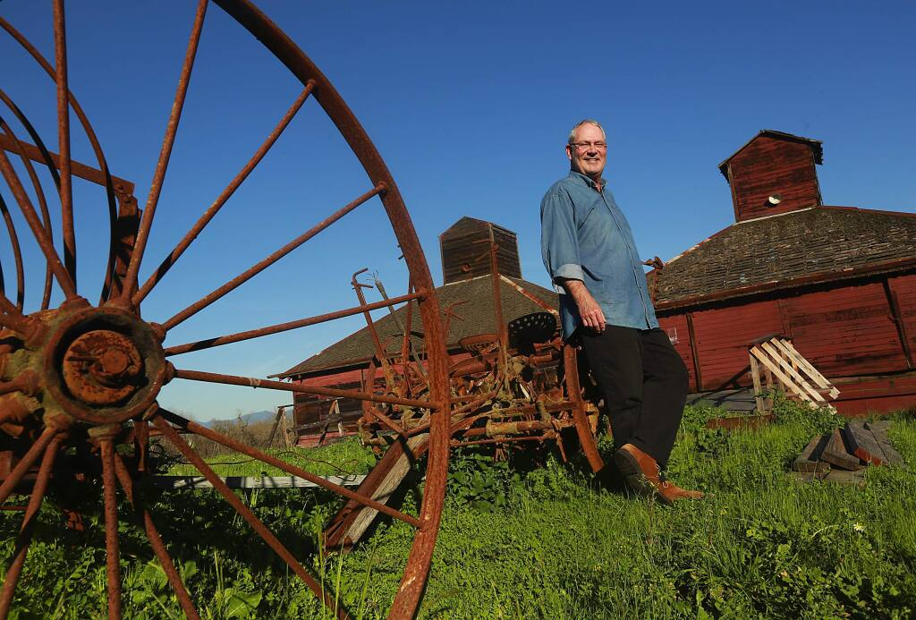 Winemaker David Ramey plans to refurbish the former Westside Road Farms barn for the the tasting room for the winery he will build across Westside Road from the former pumpkin patch. (Photo by John Burgess/The Press Democrat)