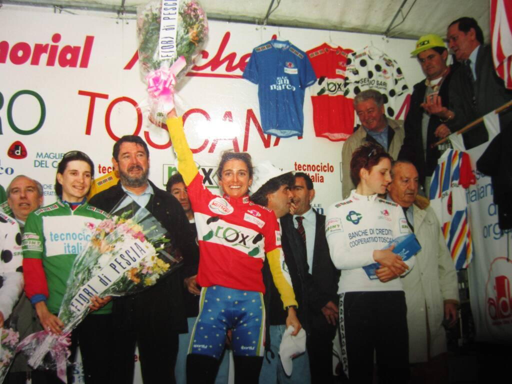 Laura Charemada of Santa Rosa was the third overall grand champion of the Giro di Toscana, a road bicycle race held annually in Tuscany, Italy.