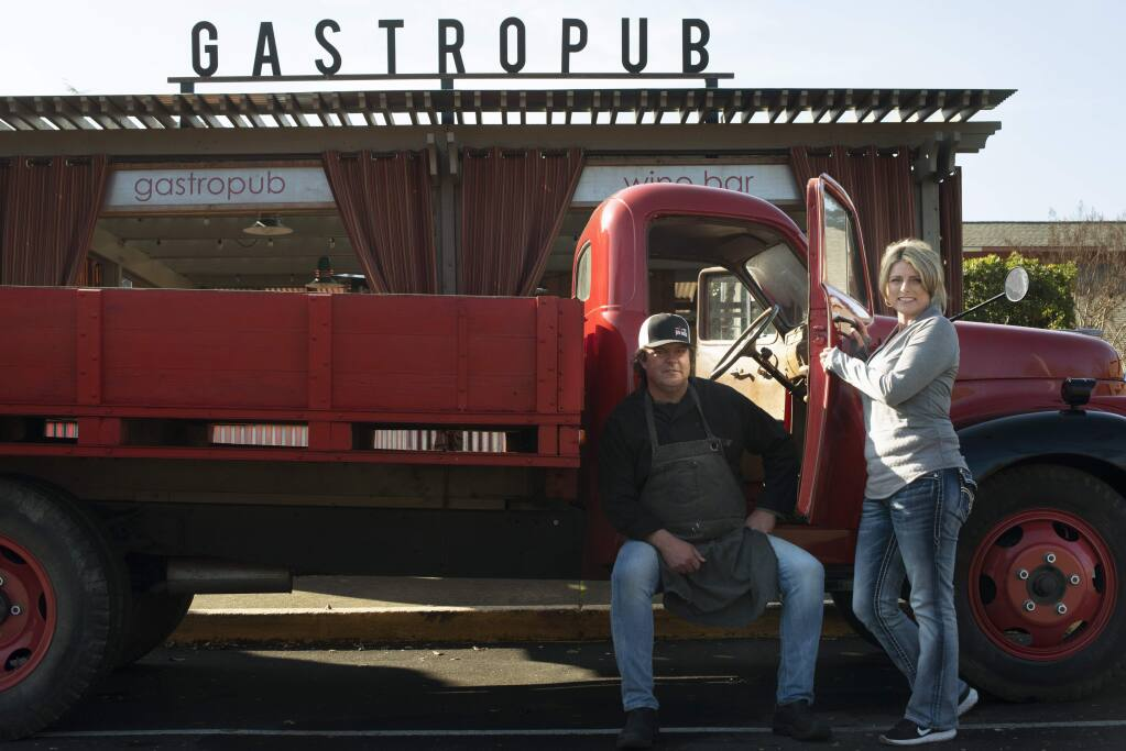 Jeff and Suzette Tyler owners of Palooza gastropub in Kenwood which is located on Sonoma Highway. January 16, 2017. (Photo: Erik Castro/for The Press Democrat)