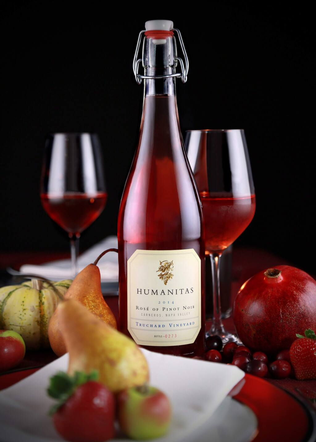Humanitas Wines of Napa Valley is releasing a rose of pinot noir wine bottled with a swing-top cap. (Will Bucquoy)