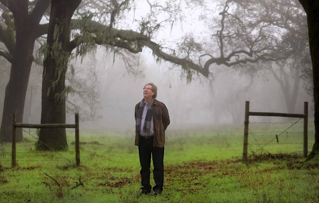 Executive Director Ralph Benson of Sonoma Land Trust, Monday Dec. 22, 2014. at the Glen Oaks Ranch near Glen Ellen. (Kent Porter / Press Democrat) 2014