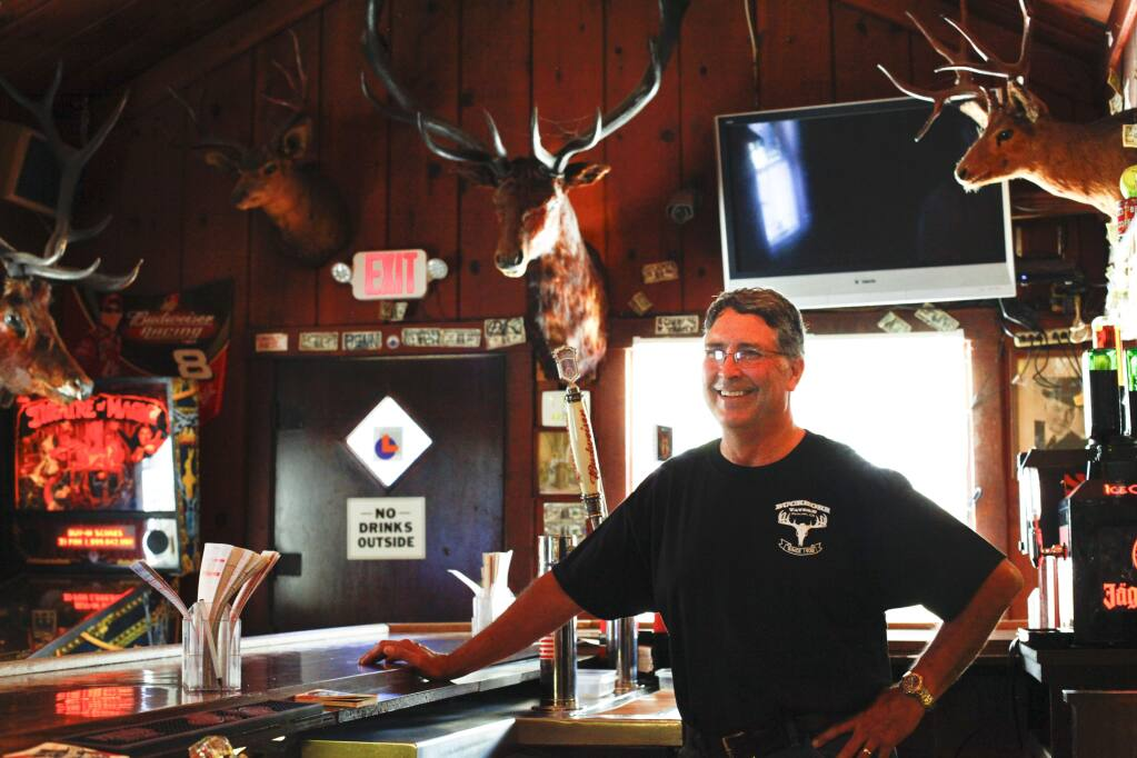 Petaluma, CA, USA. Monday, July 24, 2017._ The Buckhorn Tavern on Petaluma Boulevard South. (CRISSY PASCUAL/ARGUS-COURIER STAFF)