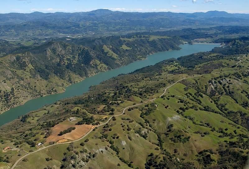 Rockpile Ridge overlooks the main finger of Lake Sonoma while looking southwest toward Warm Springs Dam.