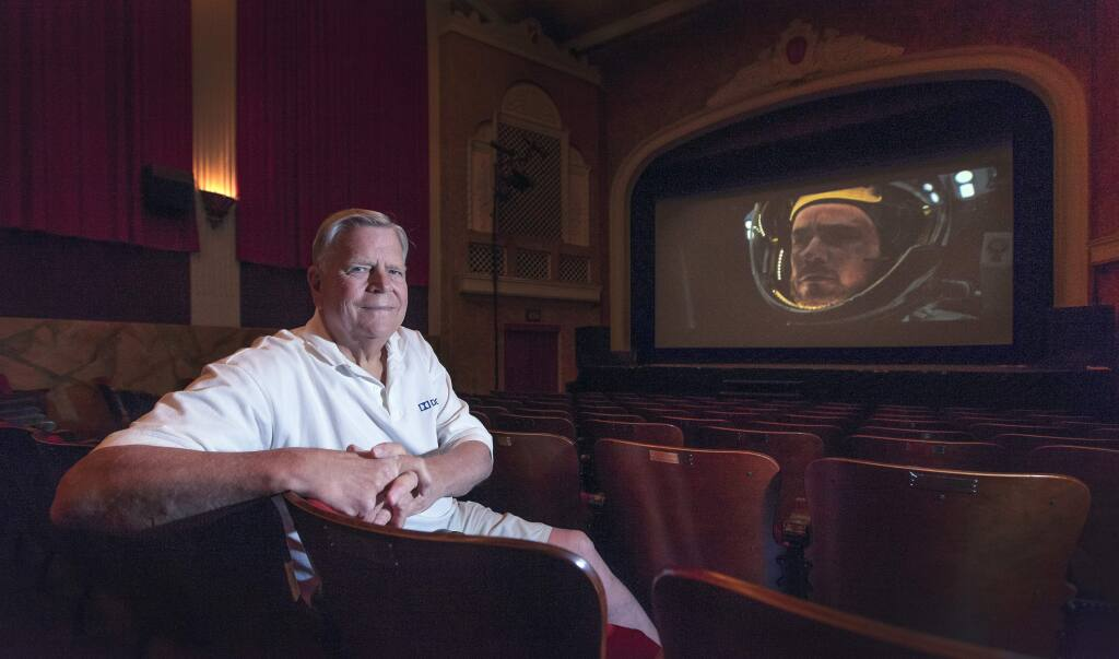 Bill Jasper, shown here at the Sebastiani Theatre, is a member of the Academy of Motion Picture Arts and Sciences and is sent around 100 screeners a year in preparation for Oscar voting. (Photo by Robbi Pengelly/Index-Tribune)