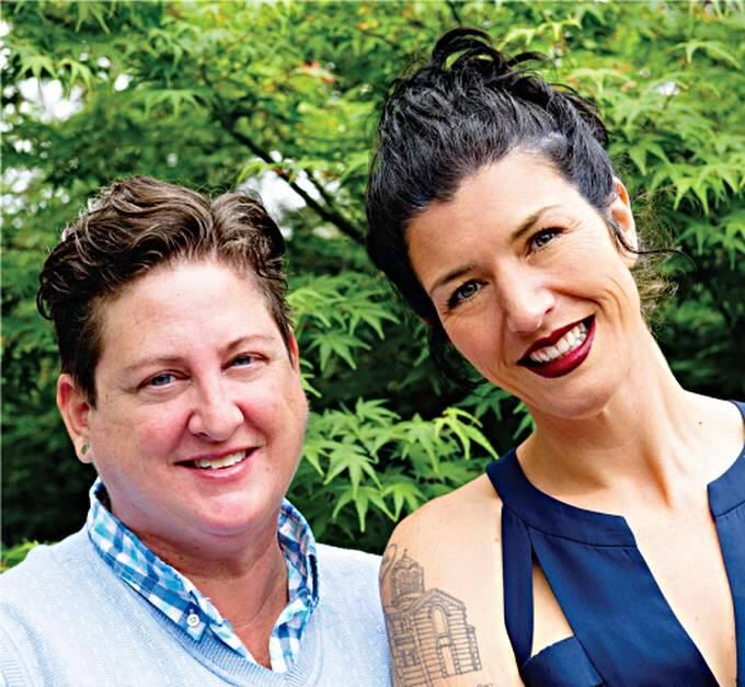 Hip Chick Farms owners Jen Johnson and Serafina Palandech (hipchickfarms.com)