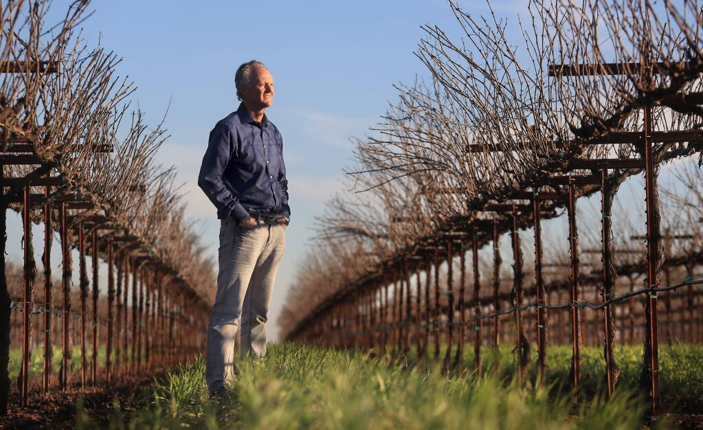 PHOTO: 1 BY KENT PORTER/ THE PRESS DEMOCRAT -Kevin Sea, at SRJC's Shone Farm, is the instructor and coordinator of the Wine Studies Program at Santa Rosa Junior College.