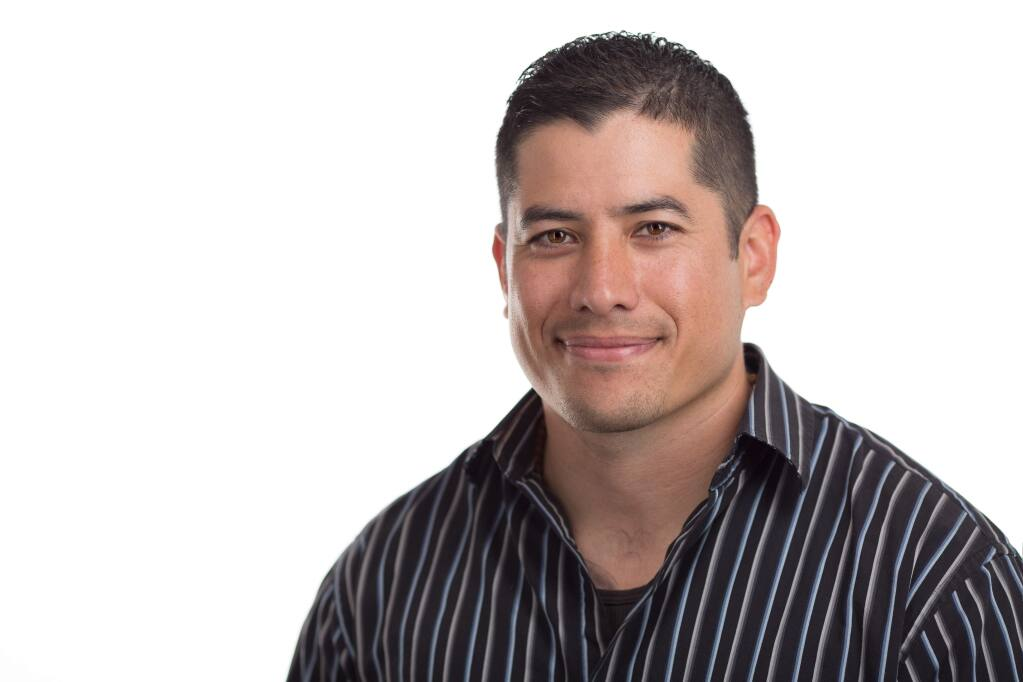 Cameron Ramos, 36, operations manager for Trope Group in Santa Rosa, is one of North Bay Business Journal's Forty Under 40 notable young professionals for 2019. (TYLER W. CHARTIER PHOTO)