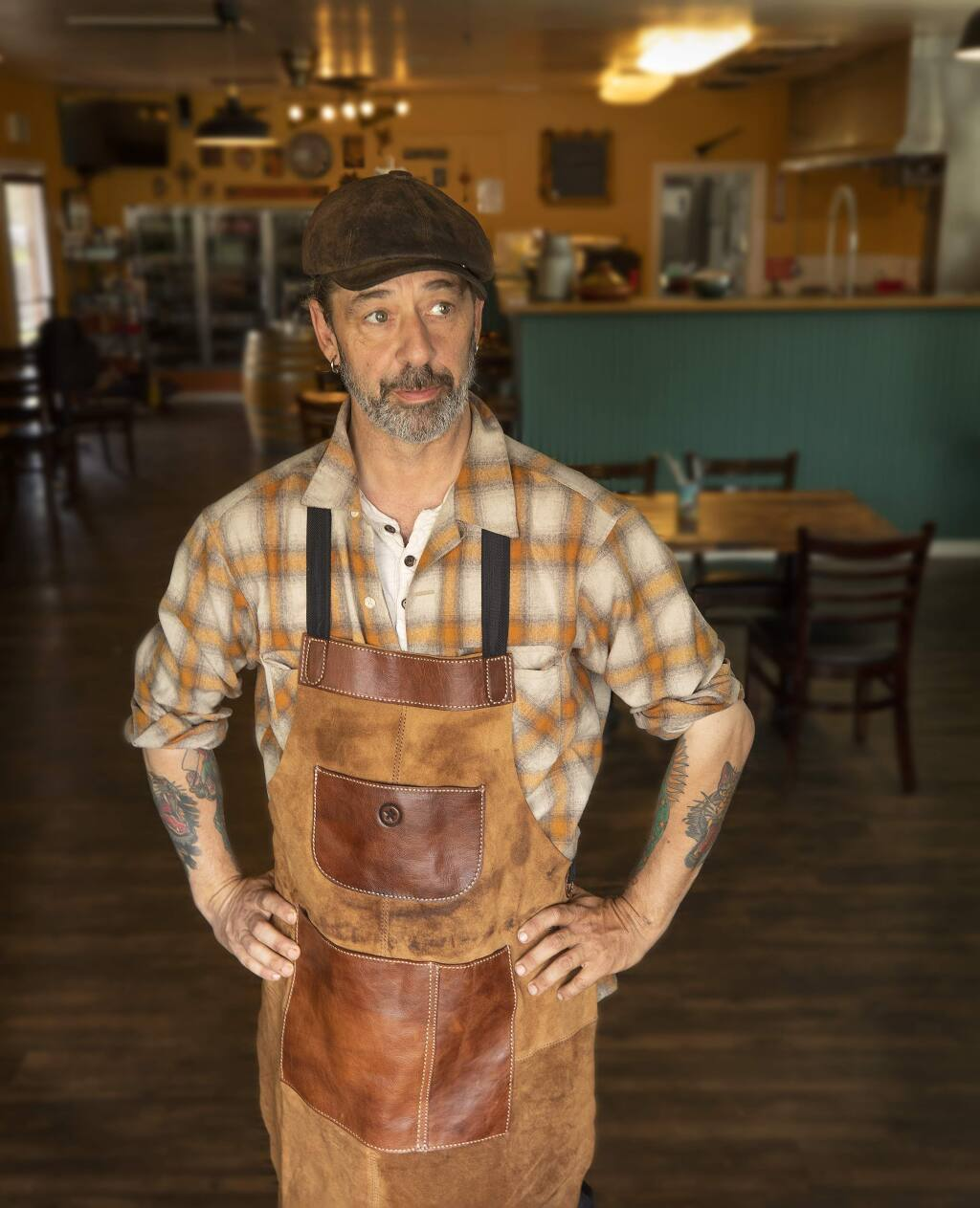 Butcher Crown Roadhouse owner/chef and pretty much anything else Pete Schnell. (photo by John Burgess/The Press Democrat)