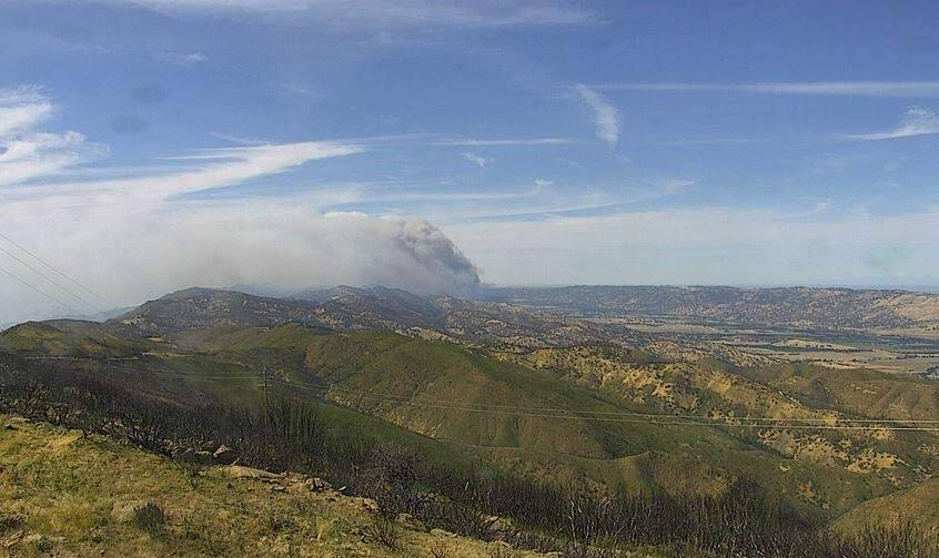 A wildfire was burning north of Lake Berryessa in Yolo County on Saturday, June 8, 2019. (www.alertwildfire.org)