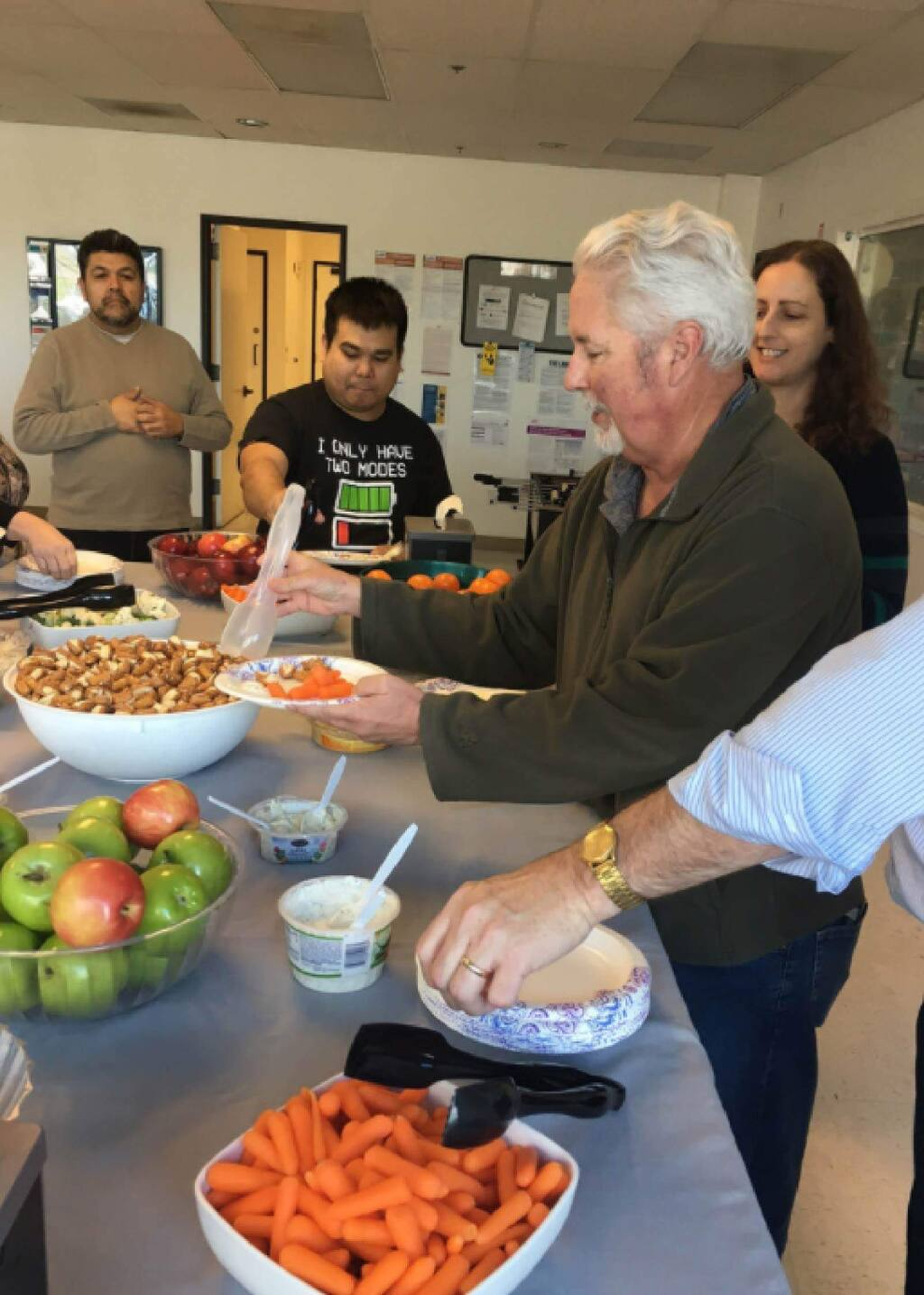 Employees of Workrite in Petaluma enjoy healthful meals at work. (WORKRITE)