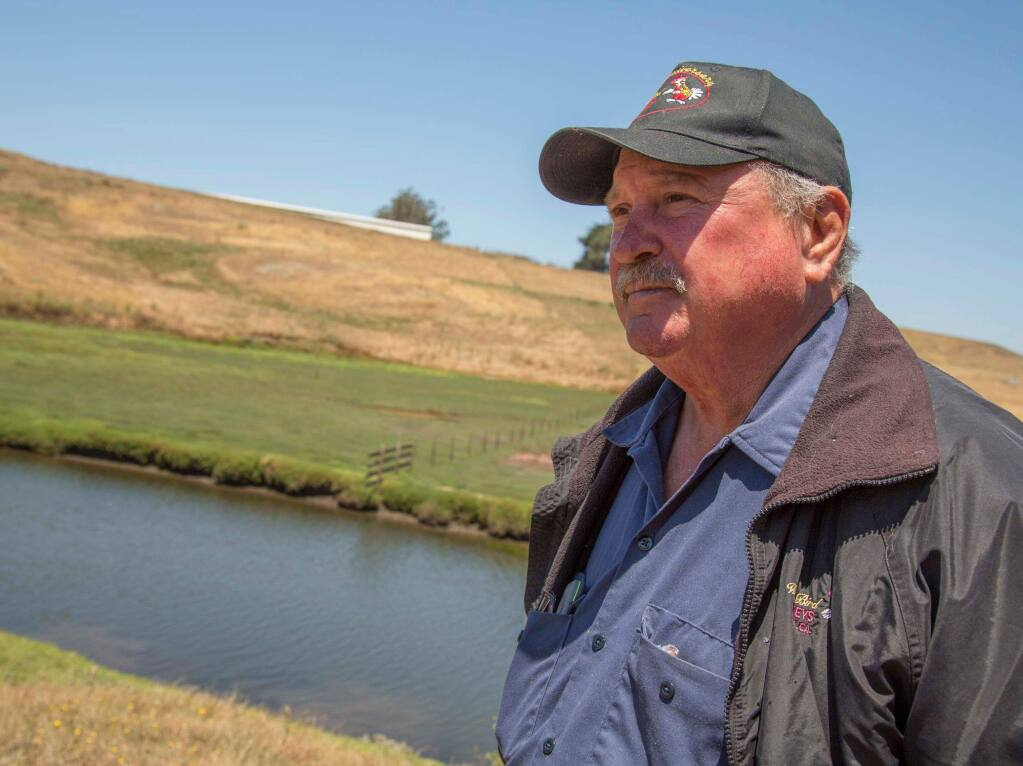 Willie Benedetti on his 267-acre ranch near Valley Ford. (COURTESY PHOTO)