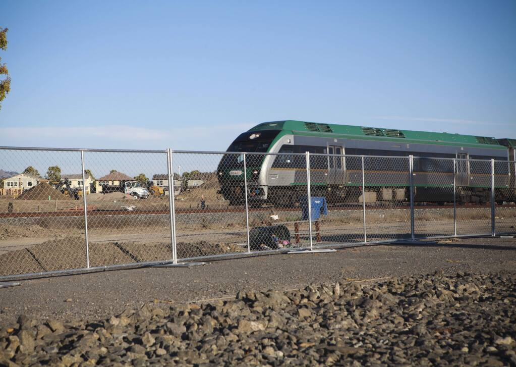 The new SMART train station will be located at Corona and McDowell in East Petaluma.(CRISSY PASCUAL/ARGUS-COURIER STAFF)