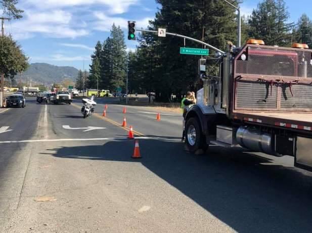 Authorities investigate a fatal crash on Todd Road near Santa Rosa on Tuesday, Nov. 5, 2019. (CHP SANTA ROSA/ FACEBOOK)