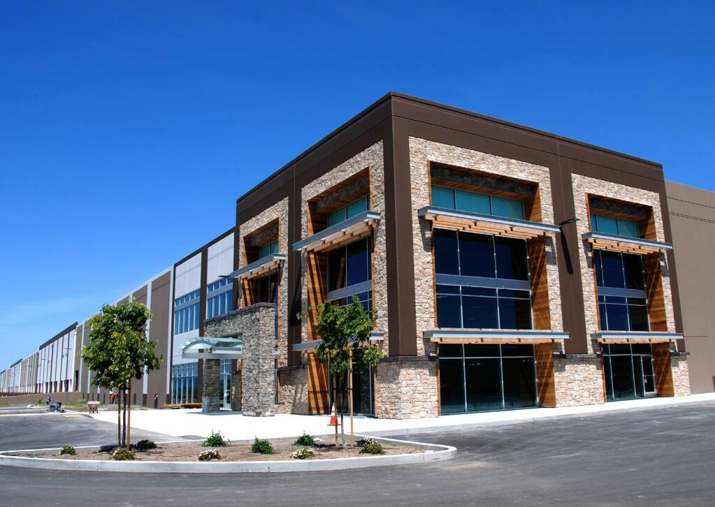 The 644,000-square-foot first building at Napa Logistics Park in south Napa was completed in August 2016. (CUSHMAN & WAKEFIELD, Sept. 15, 2016)