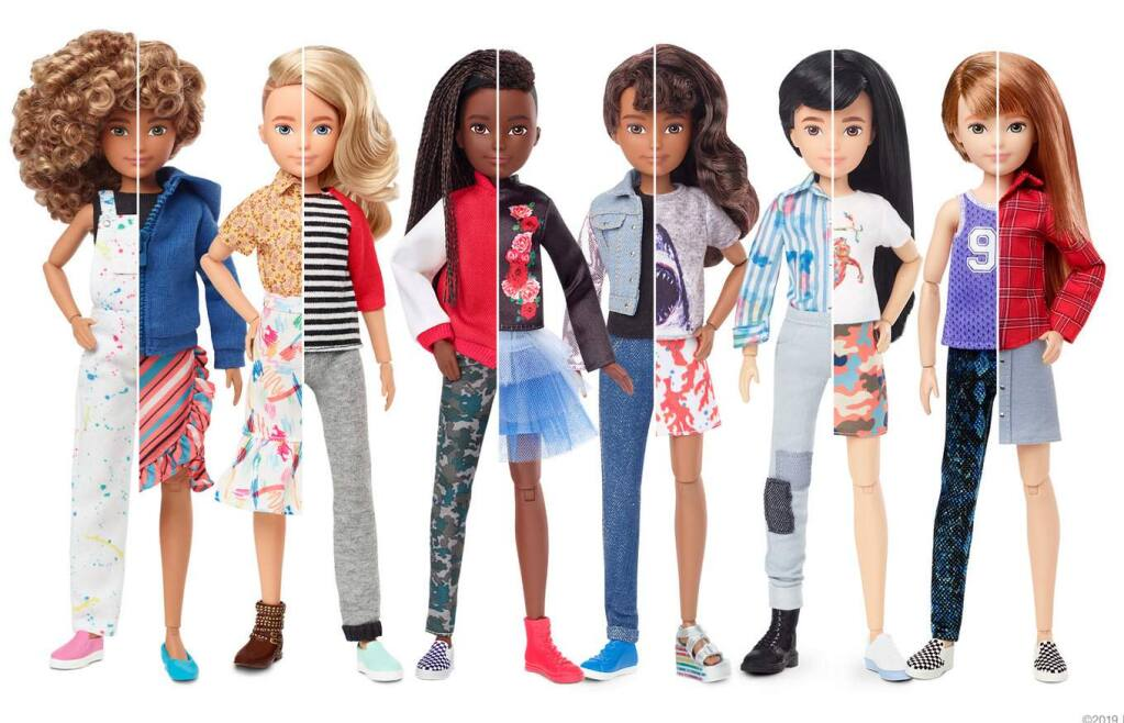 The Mattel toy company launched the Creatable World customizable doll line Wednesdy, Sept. 25, 2019. It allows children to create what the company calls 'gender inclusive' dolls. (MATTEL)