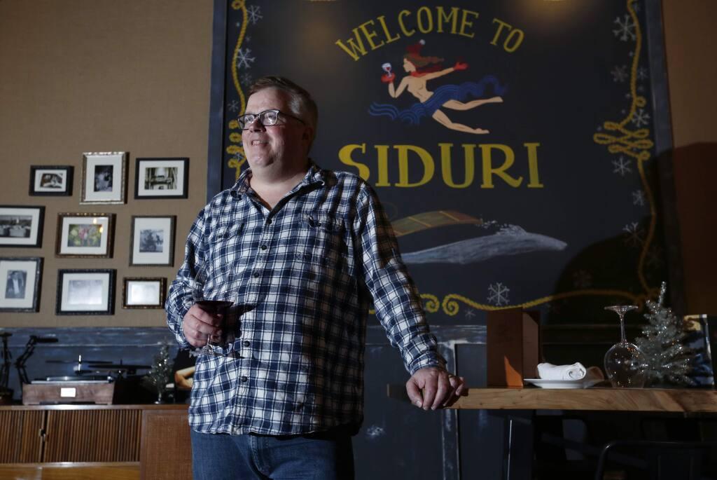 Adam Lee at Siduri Wine Bar and Tasting Lounge on Thursday, December 15, 2016 in Healdsburg, California . (BETH SCHLANKER/The Press Democrat)