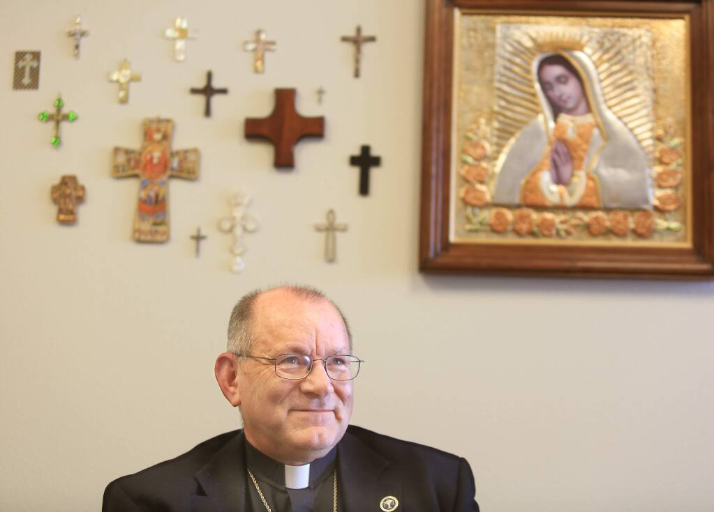 Bishop Robert F. Vasa of the Diocese of Santa Rosa on Friday Sept. 20, 2013 in his office at the diocese in Santa Rosa. (Kent Porter / Press Democrat) 2013