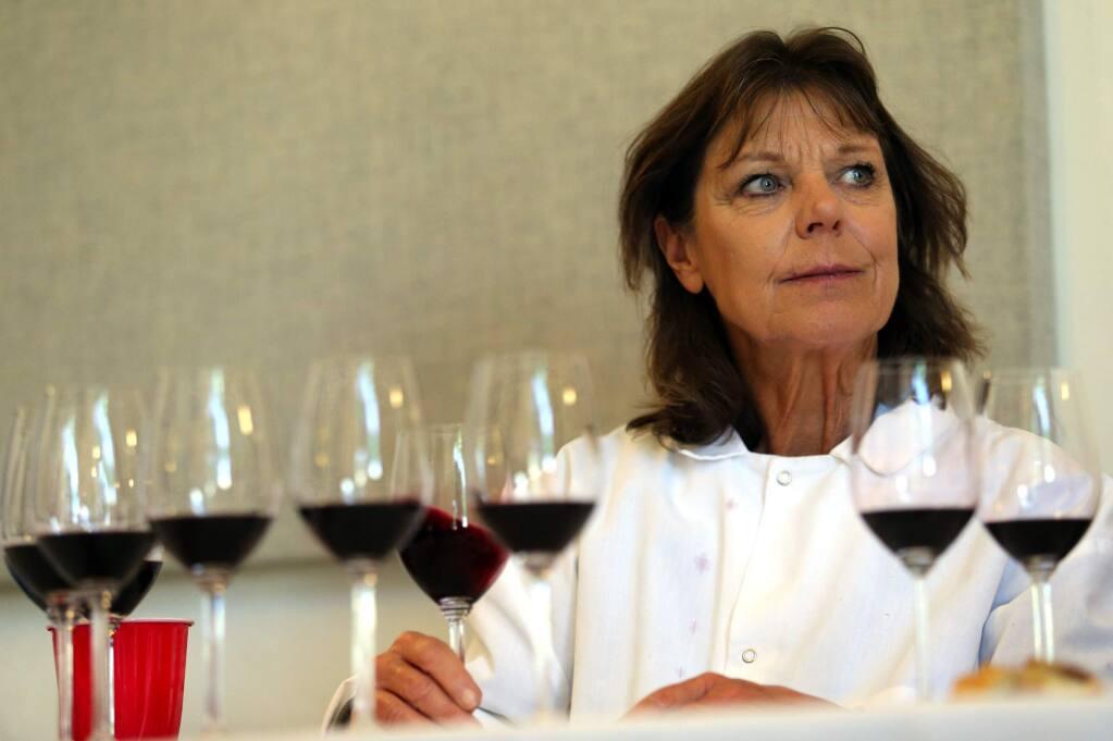 Sonoma County Harvest Fair wine competition. (JOHN BURGESS / The Press Democrat)