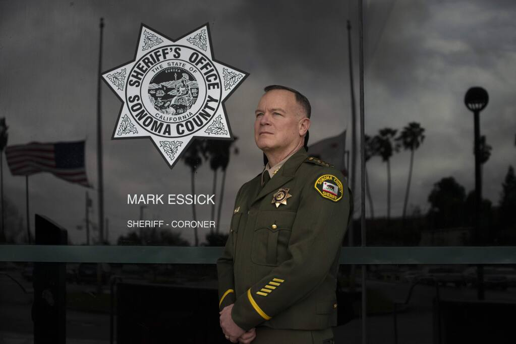 Sonoma County Sheriff Mark Essick photographed at the Sheriff's Office in Santa Rosa on Jan. 5, 2019. (Erik Castro/For The Press Democrat)