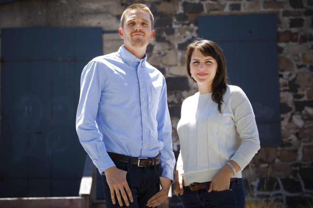 Owners of a cannabis delivery service called Farmhouse Artisan Market, Claire Firestone and James Clark have been awarded one of the two city contracts. The city will continue its search for another. (CRISSY PASCUAL/ARGUS-COURIER STAFF)