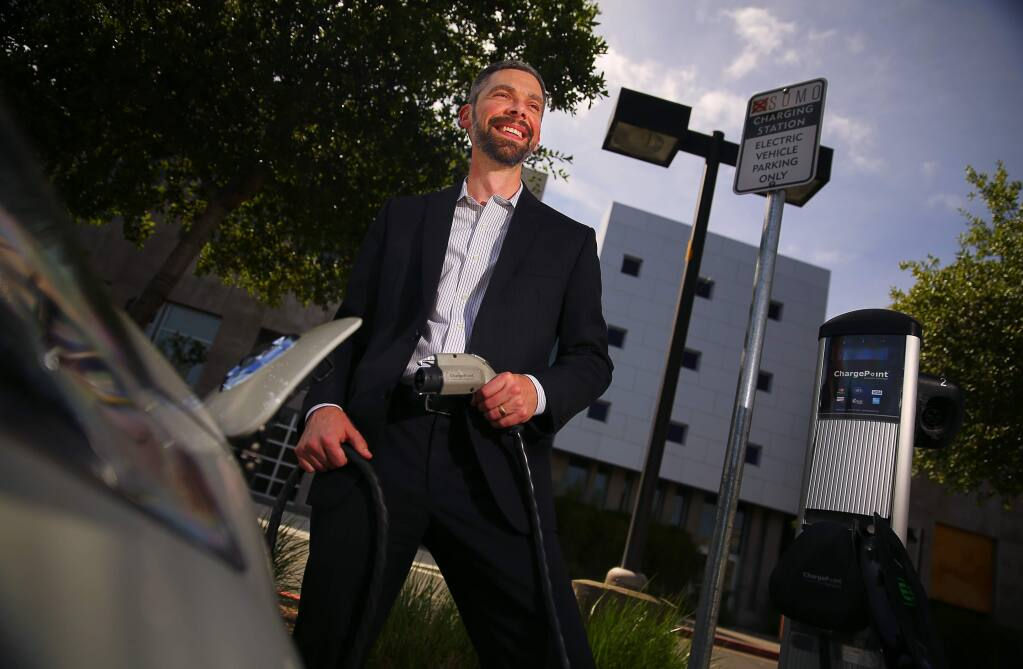 Geof Syphers is the CEO of Sonoma Clean Power.(Christopher Chung/ The Press Democrat)