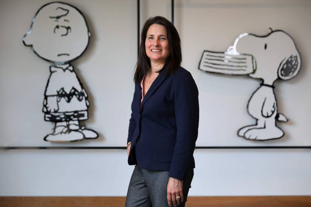 Gina Huntsinger, currently the general manager at Snoopy's Home Ice, will be taking over as director of the Charles M. Schulz Museum and Research Center in July.(Christopher Chung/ The Press Democrat)