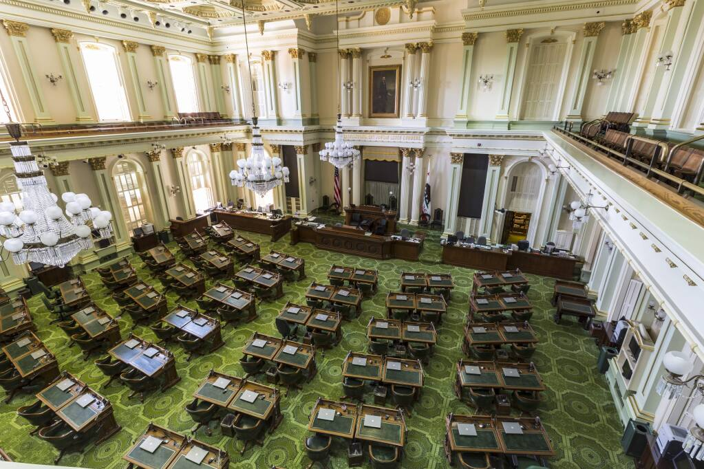 The state Assembly chamber in Sacramento.