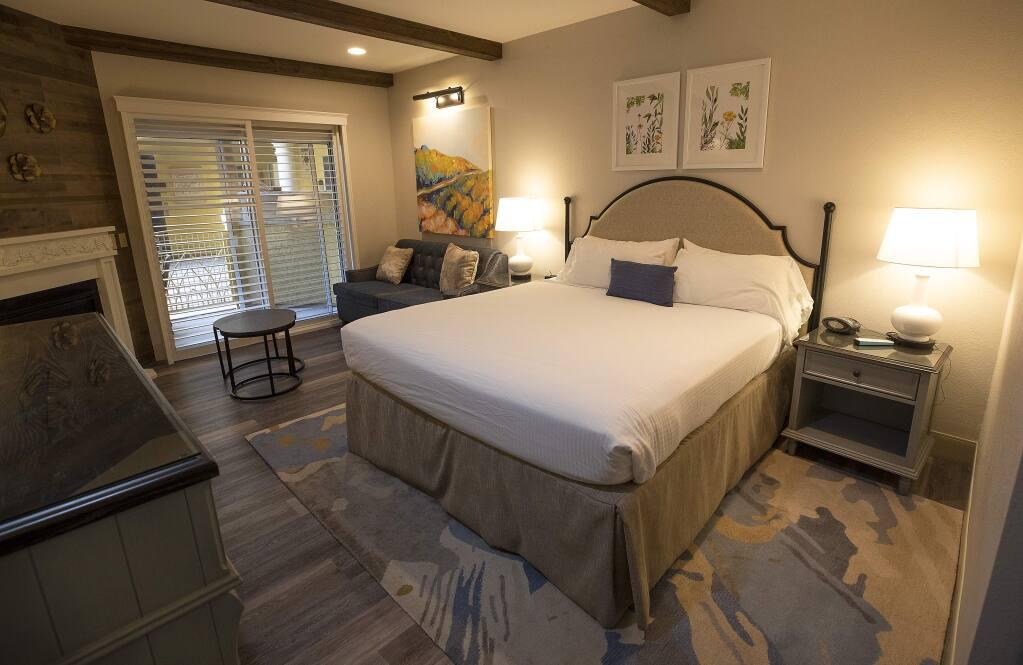 A Villa king room at the Best Western Dry Creek Inn in Healdsburg. (photo by John Burgess/The Press Democrat)