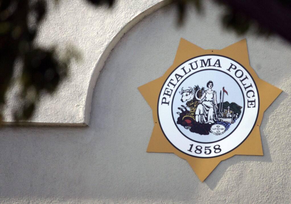 Petaluma Police logo on February 4, 2014.
