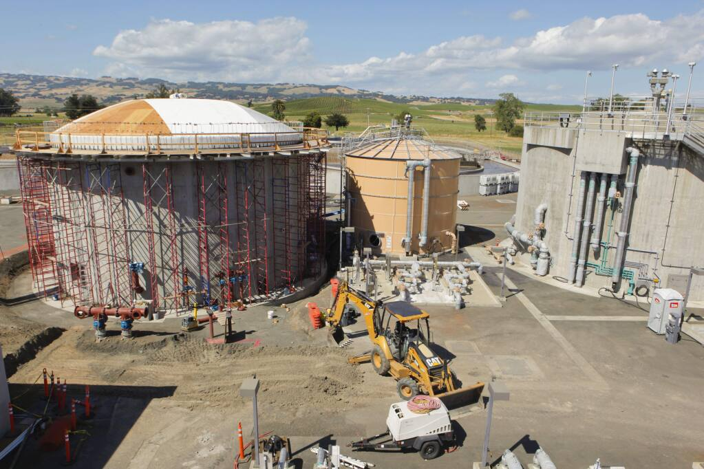 Petaluma, CA, USA. Tuesday, June 12, 2017._ In an effort to combat global warming, the city of Petaluma is making more effort to reduce greenhouse gas. At the Ellis Creek Recycling Facility, a second Methane Digester is being built. The gas created there will power city vehicles, according to project manager and engineer, Phil Benedetti. (CRISSY PASCUAL/ARGUS-COURIER STAFF)