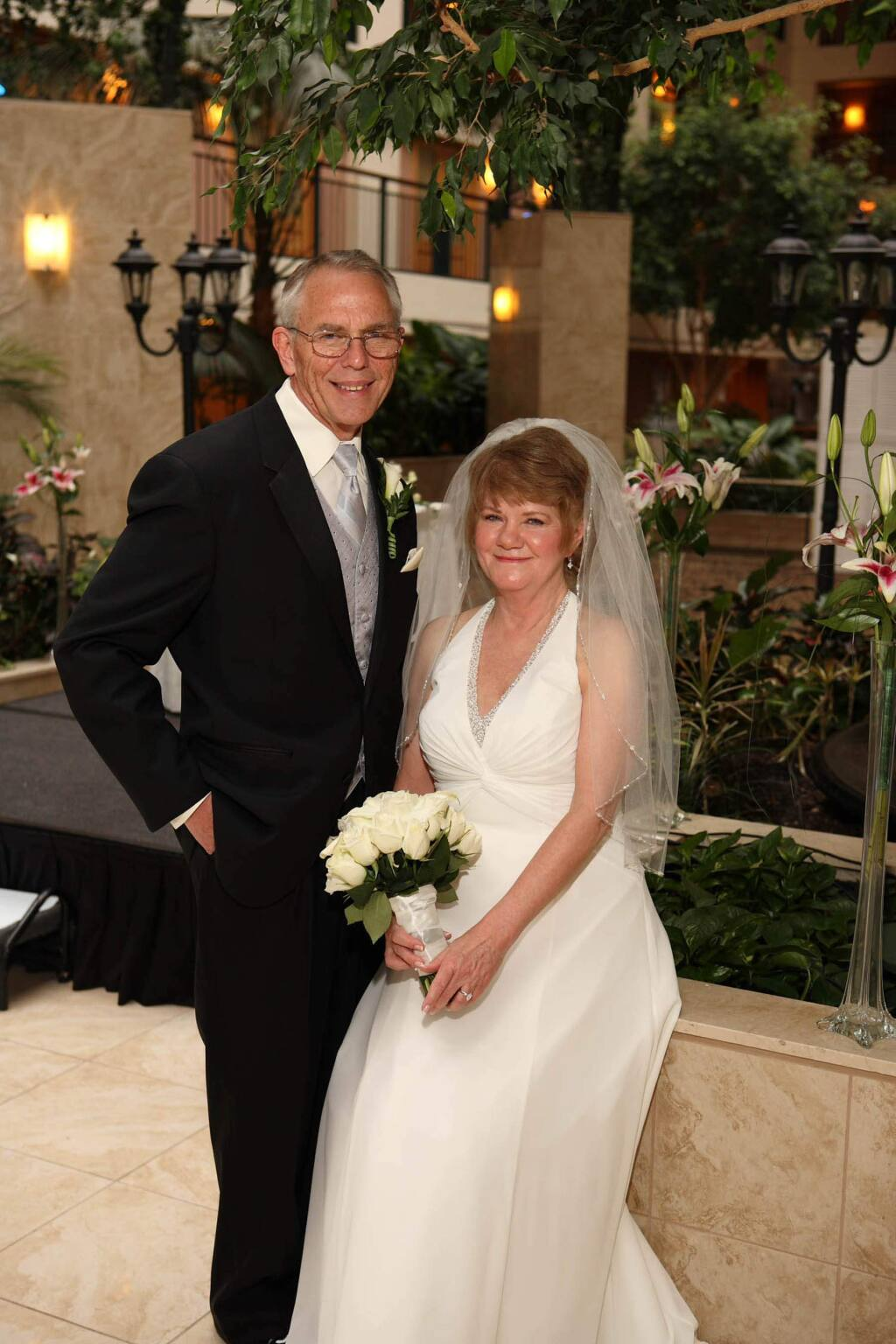 Cindy Jacobs, a retired therapist, was a month shy of 60 when she got married for the first time to Kerry, a widower. They have been married 10 years and live in Healdsburg. (Cindy Jacobs)