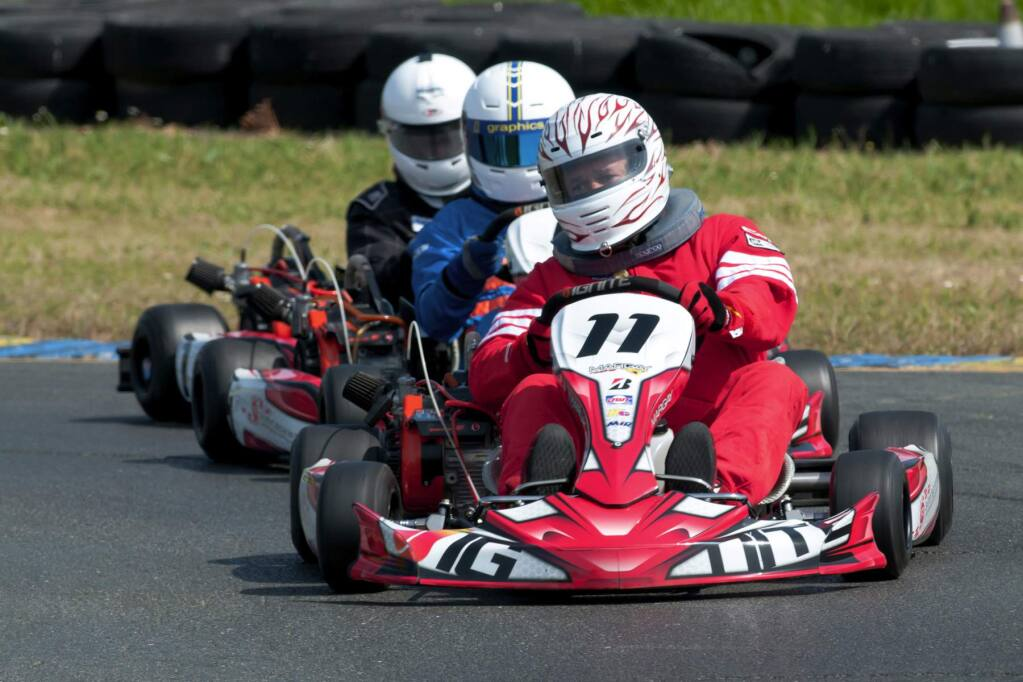 Mike Finnegan/Sonoma RacewayRacing enthusiasts can go head-to-head against stars from the NHRA Mello Yello Drag Racing Series in a charity karting event on April 9.