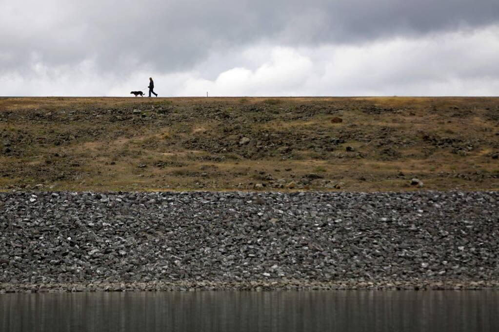 2/12/2015:A7:Above, water levels appear nearly back to normal Wednesday at Lake Mendocino, which had significantly low levels, below, in September.PC:Water levels are nearly back to normal at Lake Mendocino, Wednesday Feb. 11, 2015 in Ukiah. (Kent Porter / Press Democrat) 2015