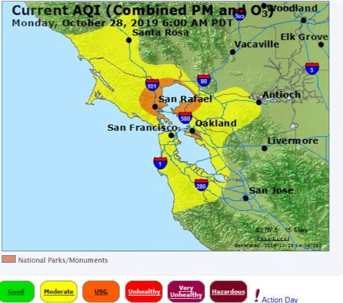Map Air Quality In Sonoma County And The Bay Area The air quality is expected to be unhealthy. map air quality in sonoma county and